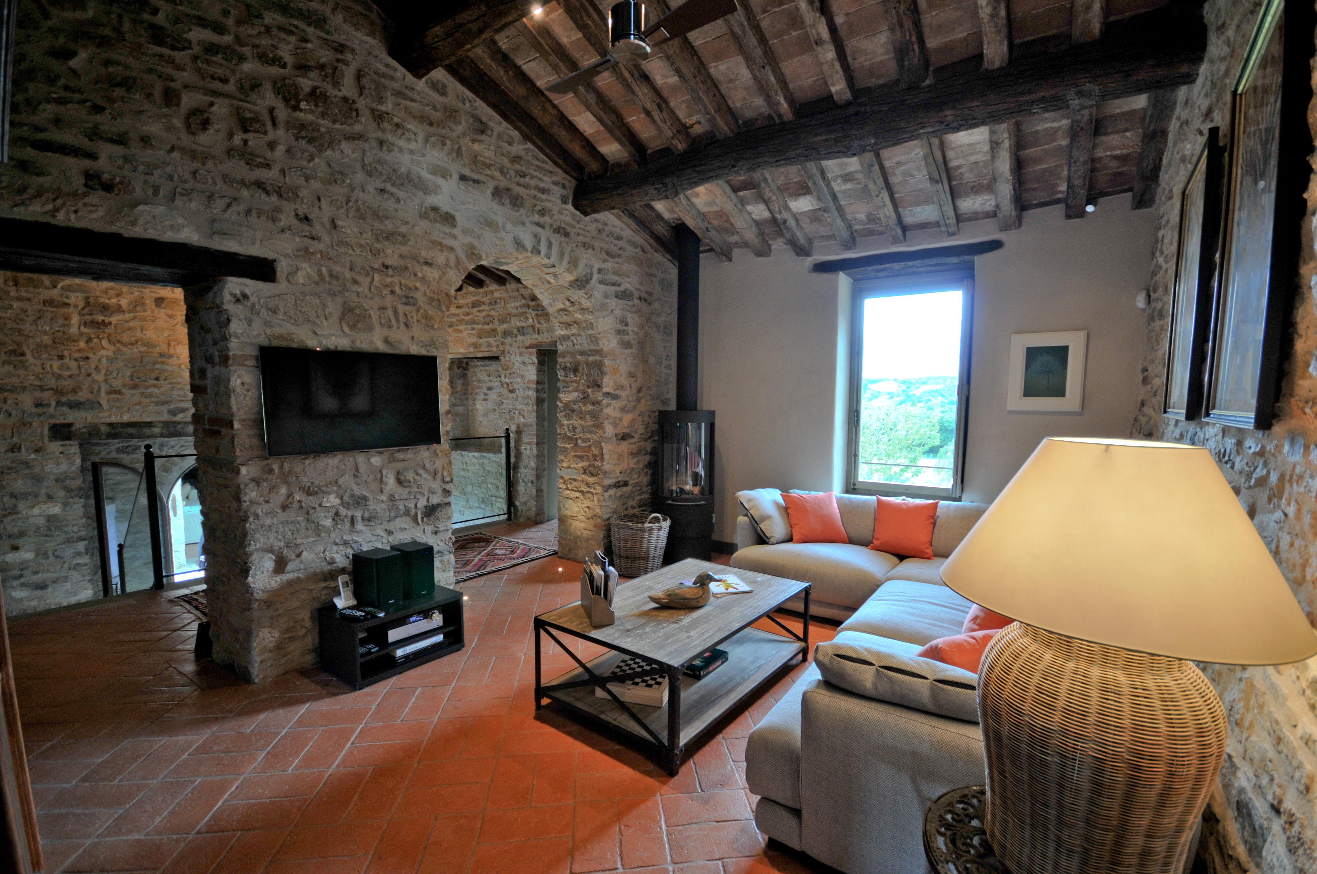 Farm house Sitting Room with log burner