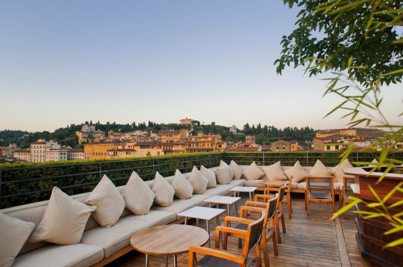 I Rooftop Bar con vista piu belli ed esclusivi a Firenze 0 Hotel Continentale Lungarno collection