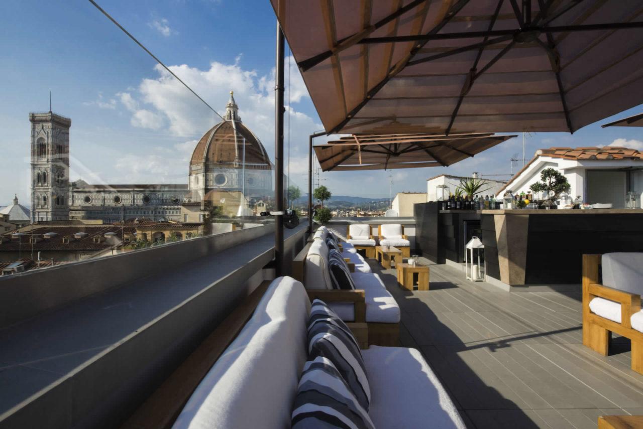I Rooftop Bar con vista piu belli ed esclusivi a Firenze 1 Divina Terrazza Hotel Cavour